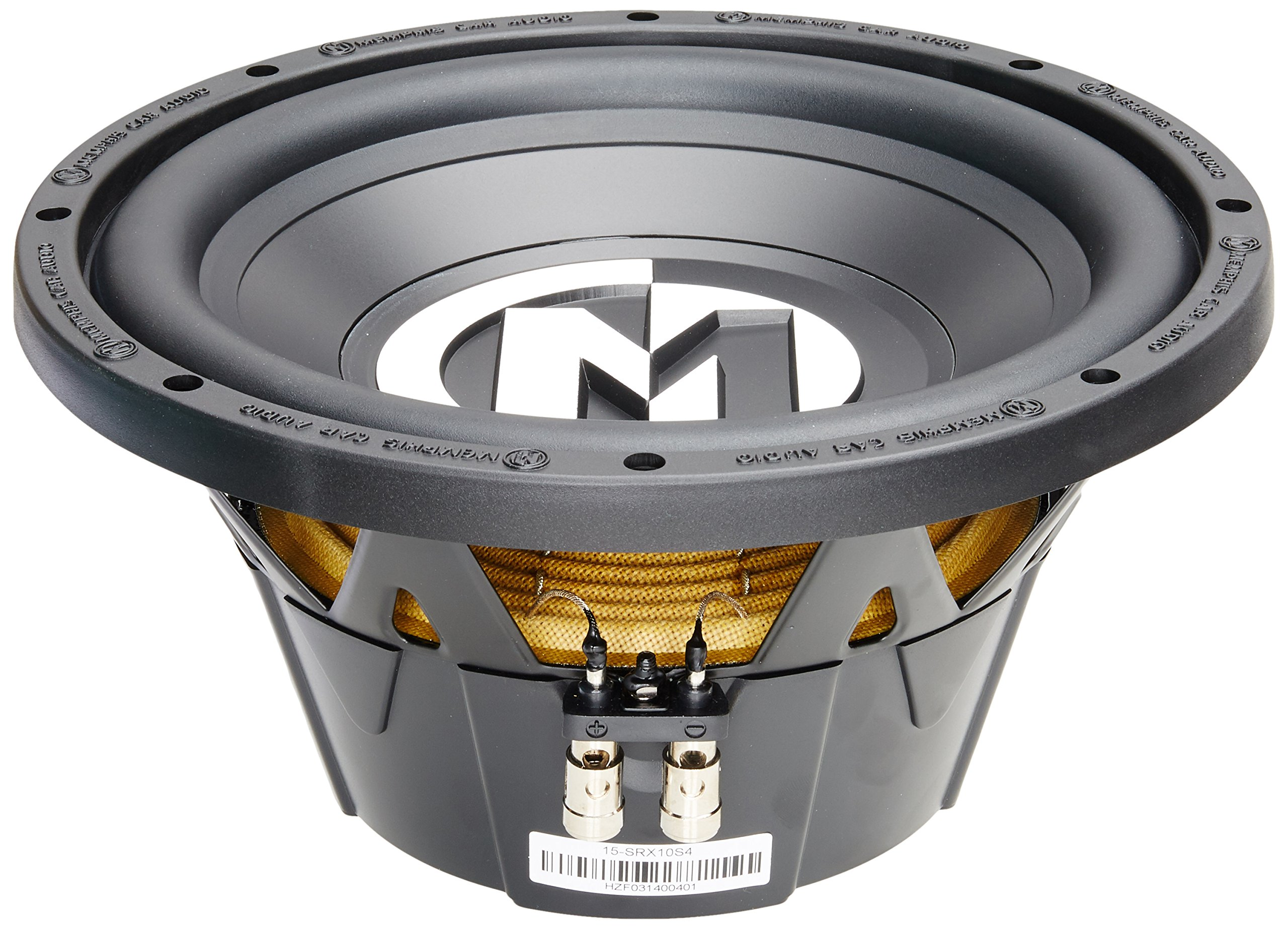 15-SRX10S4 - Memphis 10'' 200W RMS Single 4-Ohm Street Reference Series Subwoofer
