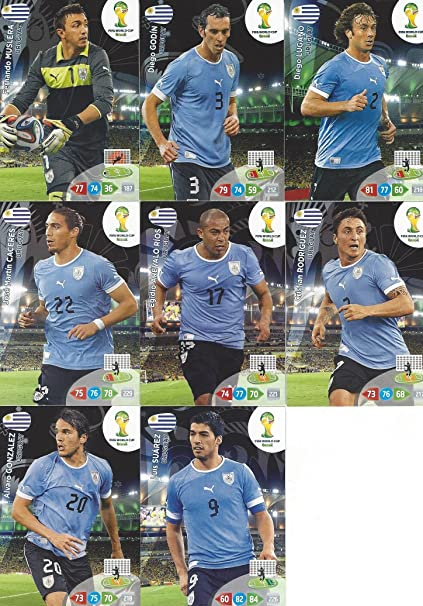 FIFA World Cup 2014 Brazil Adrenalyn XL Uruguay Base Card Team Set