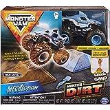 Monster Jam Megalodon Monster Dirt Starter Set, Featuring 8 Ounces of Monster Dirt & Monster Truck