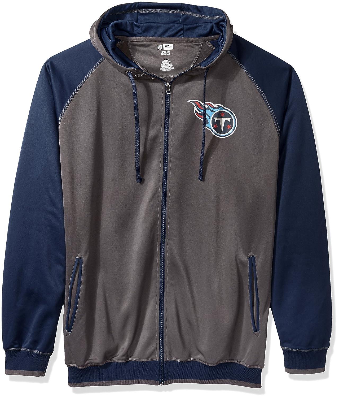 NFL Mens Titans Full Zip Poly Fleece Raglan
