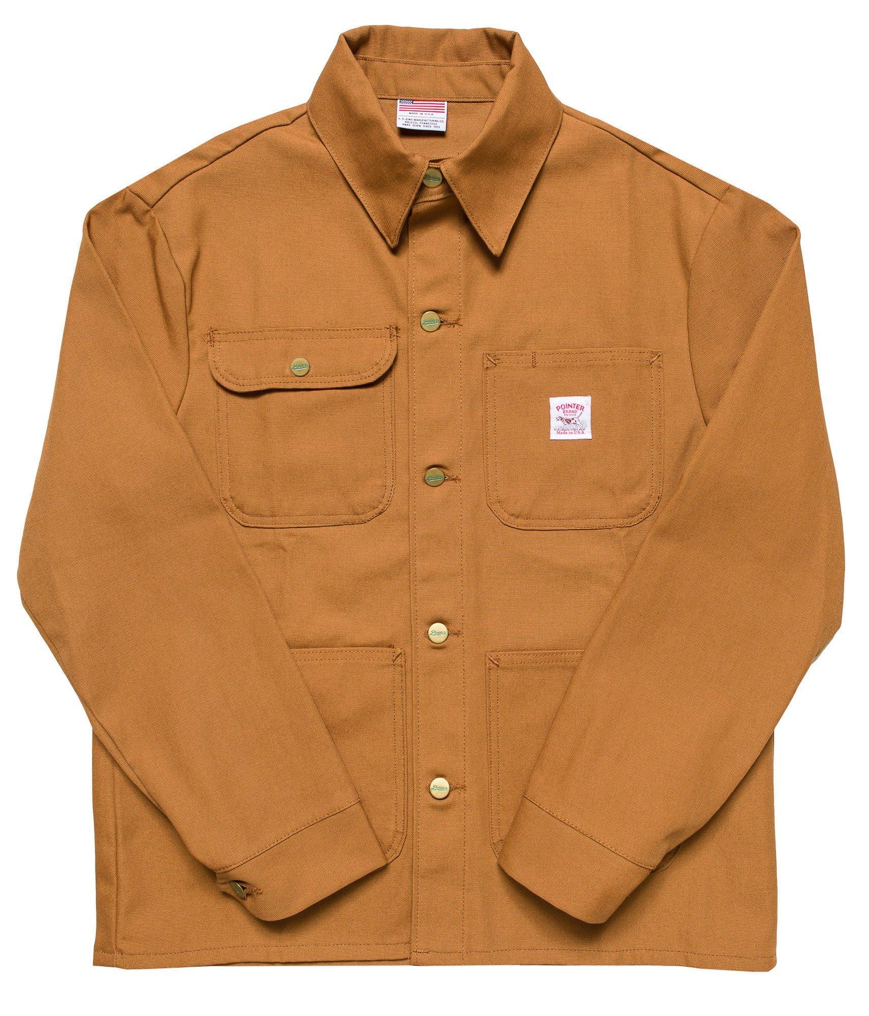Pointer Brand Brown Duck Chore Coat XS Brown