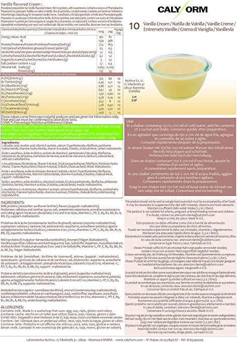 CALYFORM Natillas proteicas para dieta sabor Vainilla saciante   Proteína en polvo para preparar natillas de calidad y aporte en aminoácidos ...