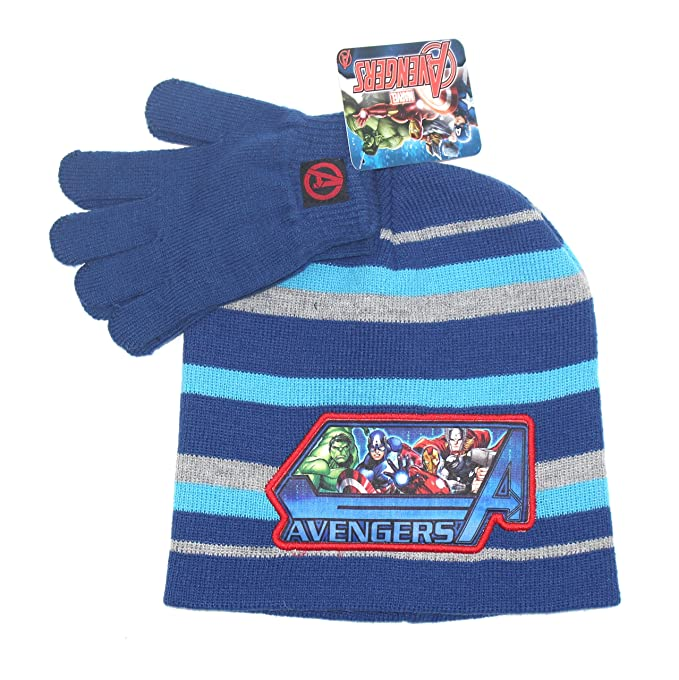 AVENGERS KNIT HAT BEANIE GLOVE SET