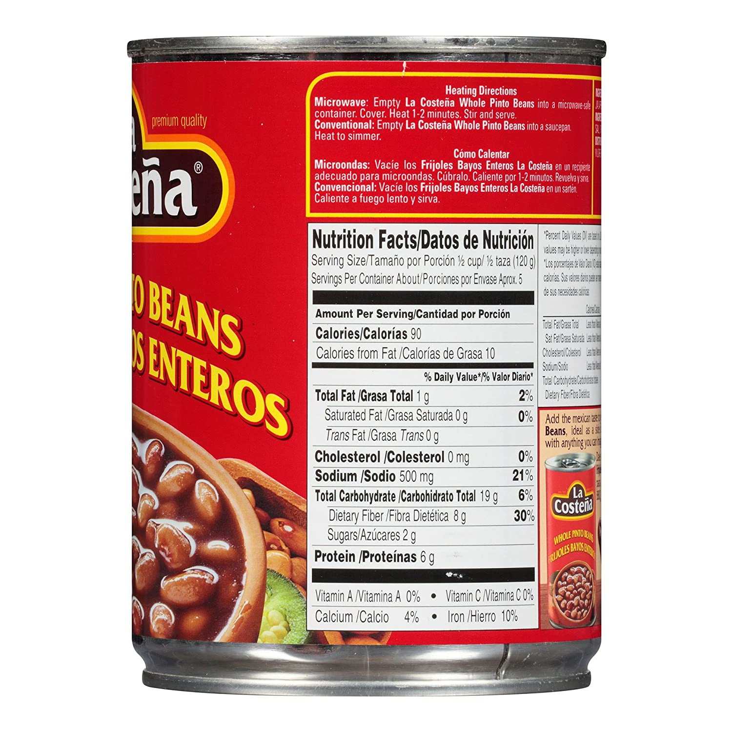 Amazon.com : La Costena Whole Pinto Beans, 19.75 oz : Grocery & Gourmet Food