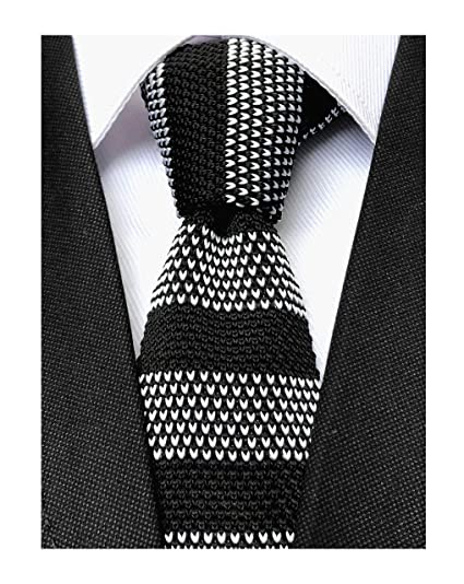 20a9c2e9b802fe Men Novelty Red Woven Wool Knit Ties Black White Business Borders Patterned  Casual Formal Cotton Necktie