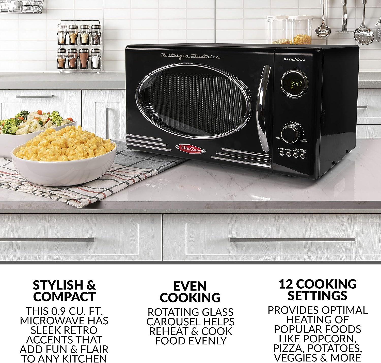 Amazon.com: Nostalgia - Horno de microondas para encimera ...