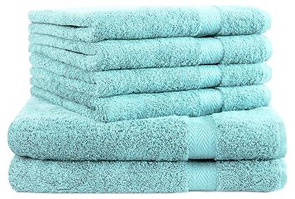 BETZ Juego de 6 Toallas Premium 100% algodón 2 Toallas de baño y 4 Toallas