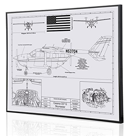 Amazon cessna 337 skymaster personalized laser engraved cessna 337 skymaster personalized laser engraved blueprint artwork custom artwork for the aviation and cessna malvernweather Gallery