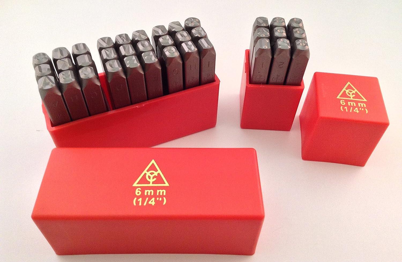 5mm 36Pc Steel Stamp Punch Set Large Letter and Number Punch//Metal Stamp Security Marker Set