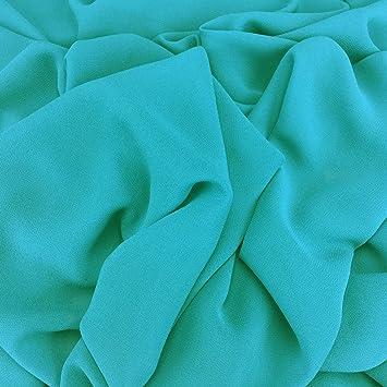 Meeresblauer Georgette Chiffon Synergie Uni-Stoff, Braut, Kleiderstoff,  150 nbsp cm breit nbsp b5ac14ee14