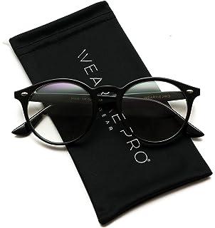 d226ce9f554 Amazon.com  WearMe Pro - Transparent Clear Frame Round Hipster ...