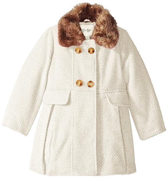 Amazon.com: Jessica Simpson Little Girls abrigo de lana con ...