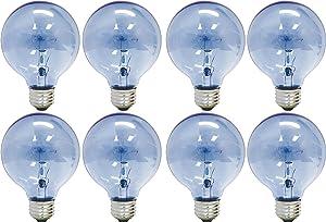 GE Lighting 75241 Reveal 25-Watt, 152-Lumen G16.5 Light Bulb with Medium Base, 8-Pack