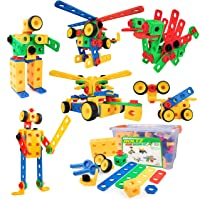 USA Toyz Boltz STEM Building Toys - 163 Pc Construction Set, Educational Toys for Kids with Engineering Blocks, Bolts, Wheels and Ratchet