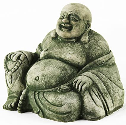 Pleasant Amazon Com Happy Buddha Statue Home And Garden Statues Inzonedesignstudio Interior Chair Design Inzonedesignstudiocom