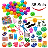 36 Toys Filled Easter Eggs, 2.25 Inches Bright Colorful Prefilled Plastic Surprise Eggs with 18 Kinds Popular Toys for Easter Basket Stuffers Fillers, Egg Hunt Party, etc. by Joyin Toy