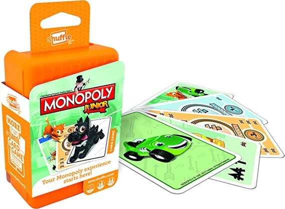 Shuffle Monopoly Junior Childrens Card Game by: Amazon.es: Juguetes y juegos
