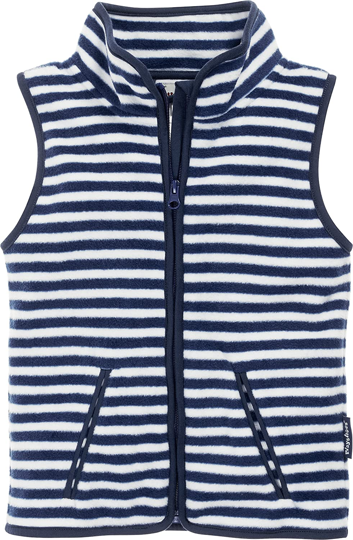 Playshoes Boy's Kids Sleeveless Full Zip Fleece Vest Maritime Striped Gilet 420025