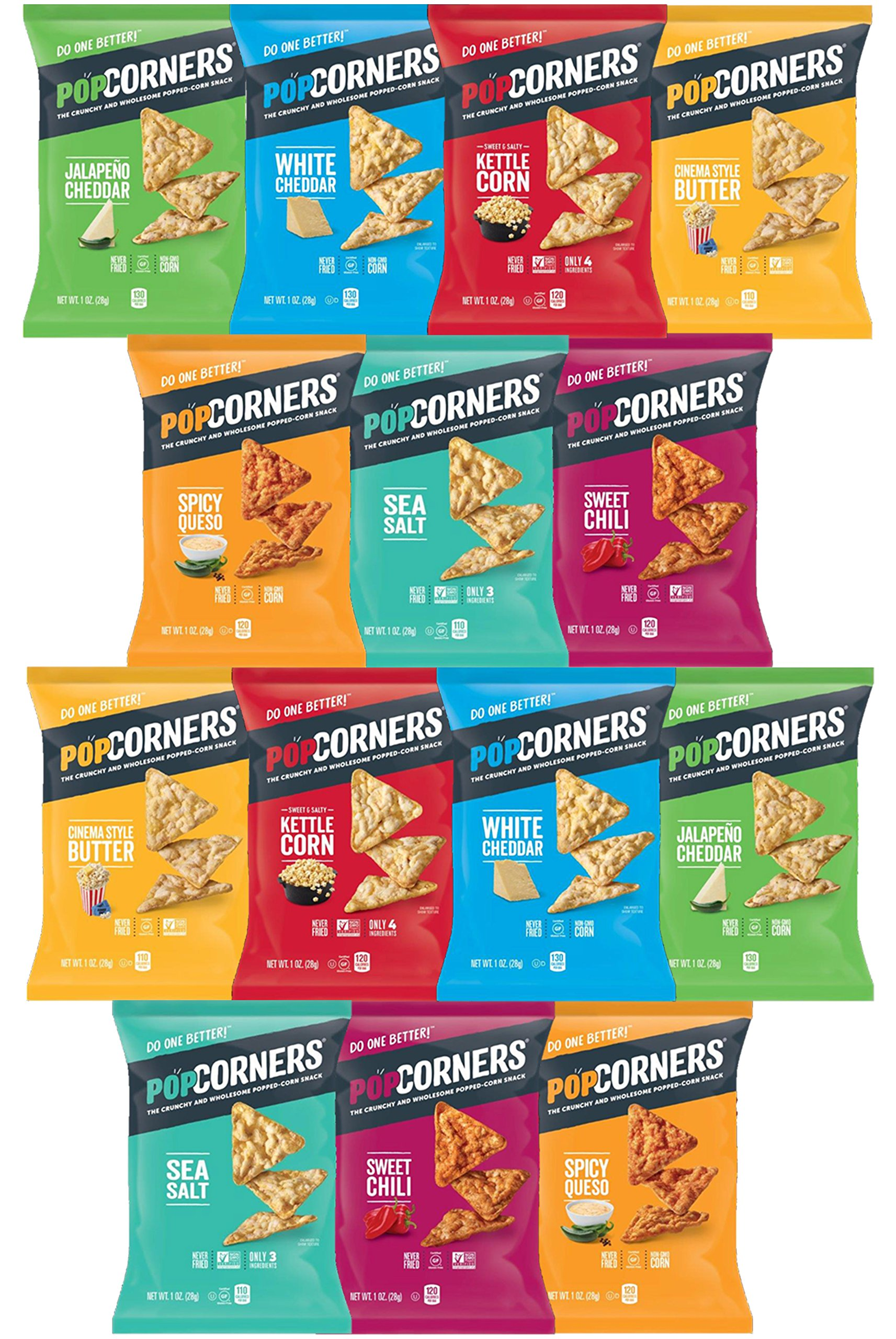 Popcorners Variety Pack Sampler, 1 Ounce (14 Count)