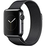 Apple Watch Band, MAIKES Magnetic Closure Clasp Mesh Loop Milanese Stainless Steel Strap 42mm, Black