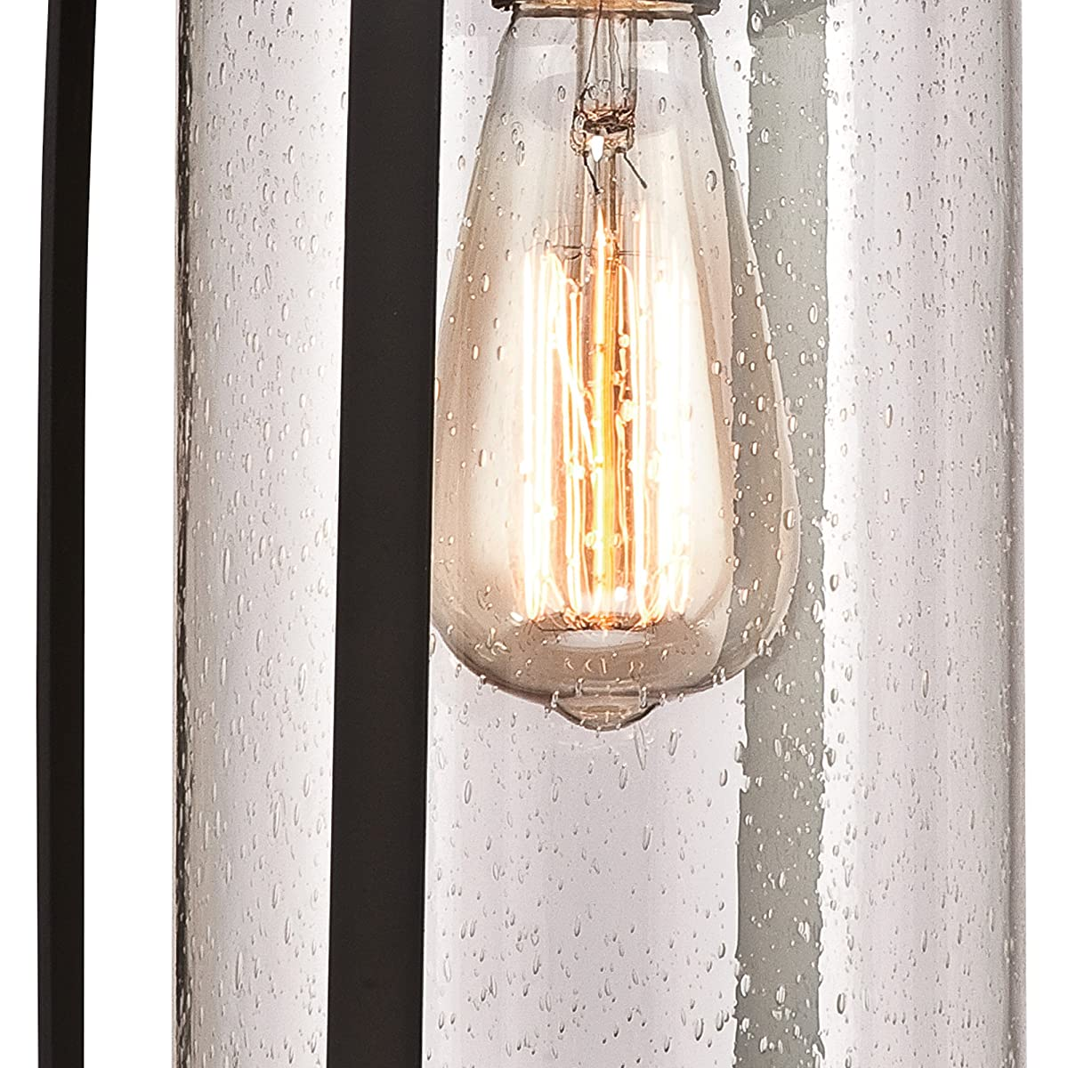 Westinghouse 6339400 Grandview One-Light Outdoor Pendant, Oil Rubbed Bronze Finish with Highlights and Clear Seeded Glass