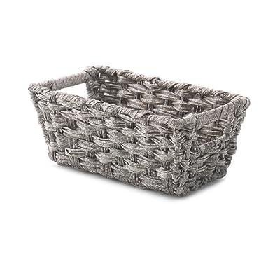 Whitmor Split Rattique Small Shelf Tote Gray Wash