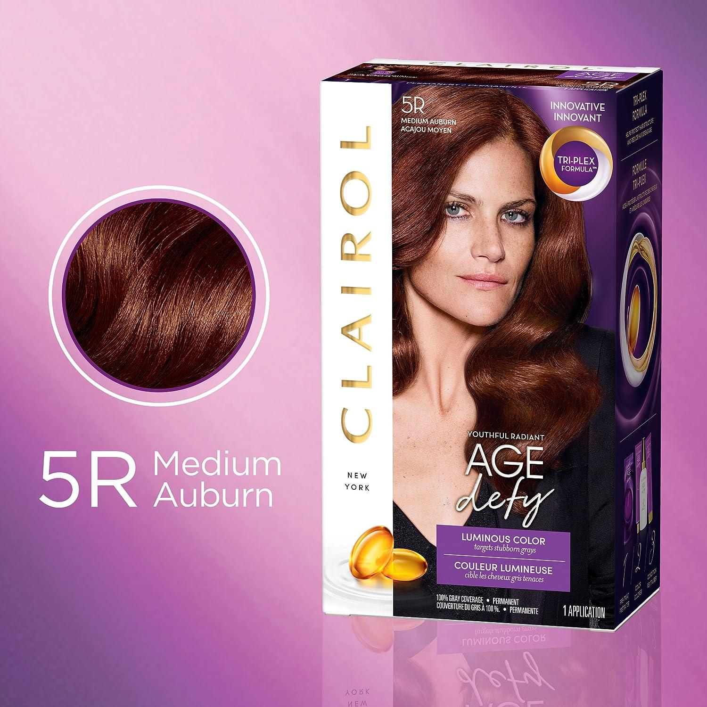 Clairol Age Defy Permanent Hair Color, 5R Medium Auburn, 1 Count