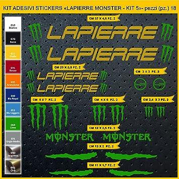 Kit Pegatinas Stickers Bicicleta Lapierre Monster- Kit 5-18 Piezas ...