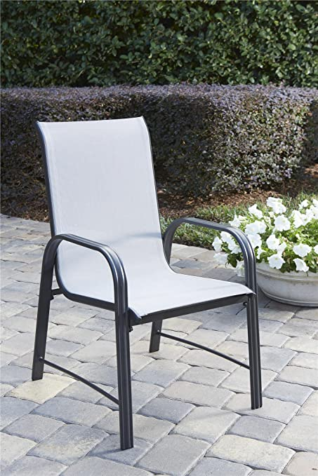 d79829b29d41 COSCO 88645GLGE Outdoor Living Paloma Steel Patio Dining Chairs, 6-Pack,  Light/
