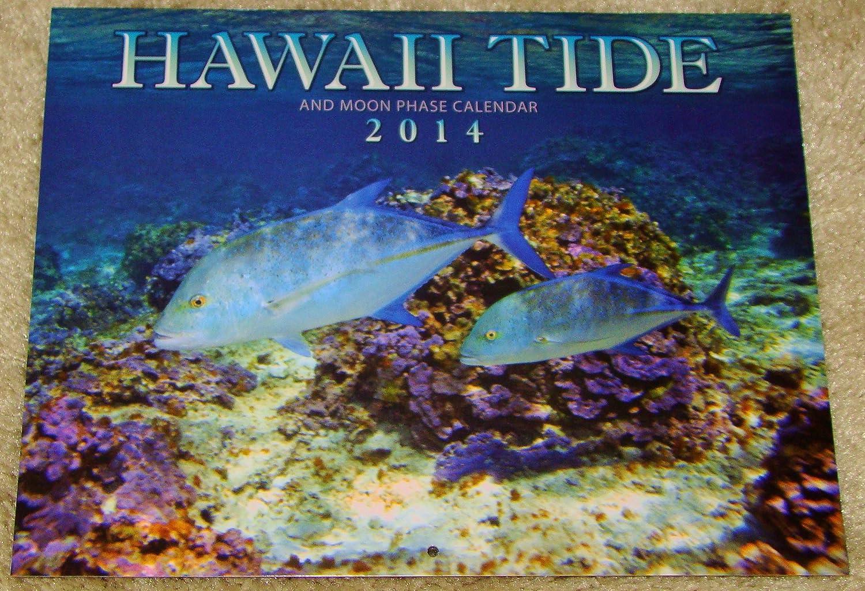 Hawaii Tide and Moon Phase 2014 Calendar