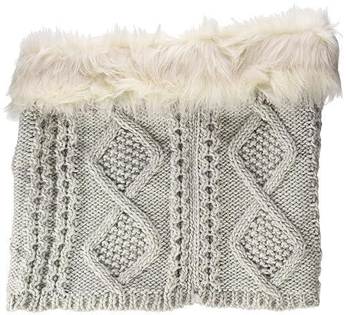 Springfield Cuello Tricot Pelo, Fulár para Mujer, Gris (Grey), One Size (Tamaño del Fabricante:U)