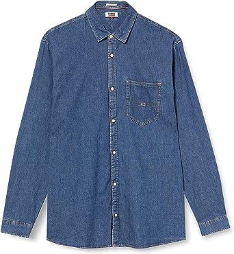 Tommy Hilfiger TJM Stretch Denim Shirt Camisa para Hombre: Amazon.es: Ropa y accesorios