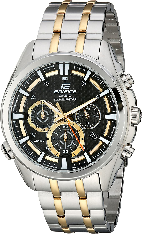 Casio Men s EFR-537SG-1AVCF Neon Illuminator Two-Tone Stainless Steel Watch