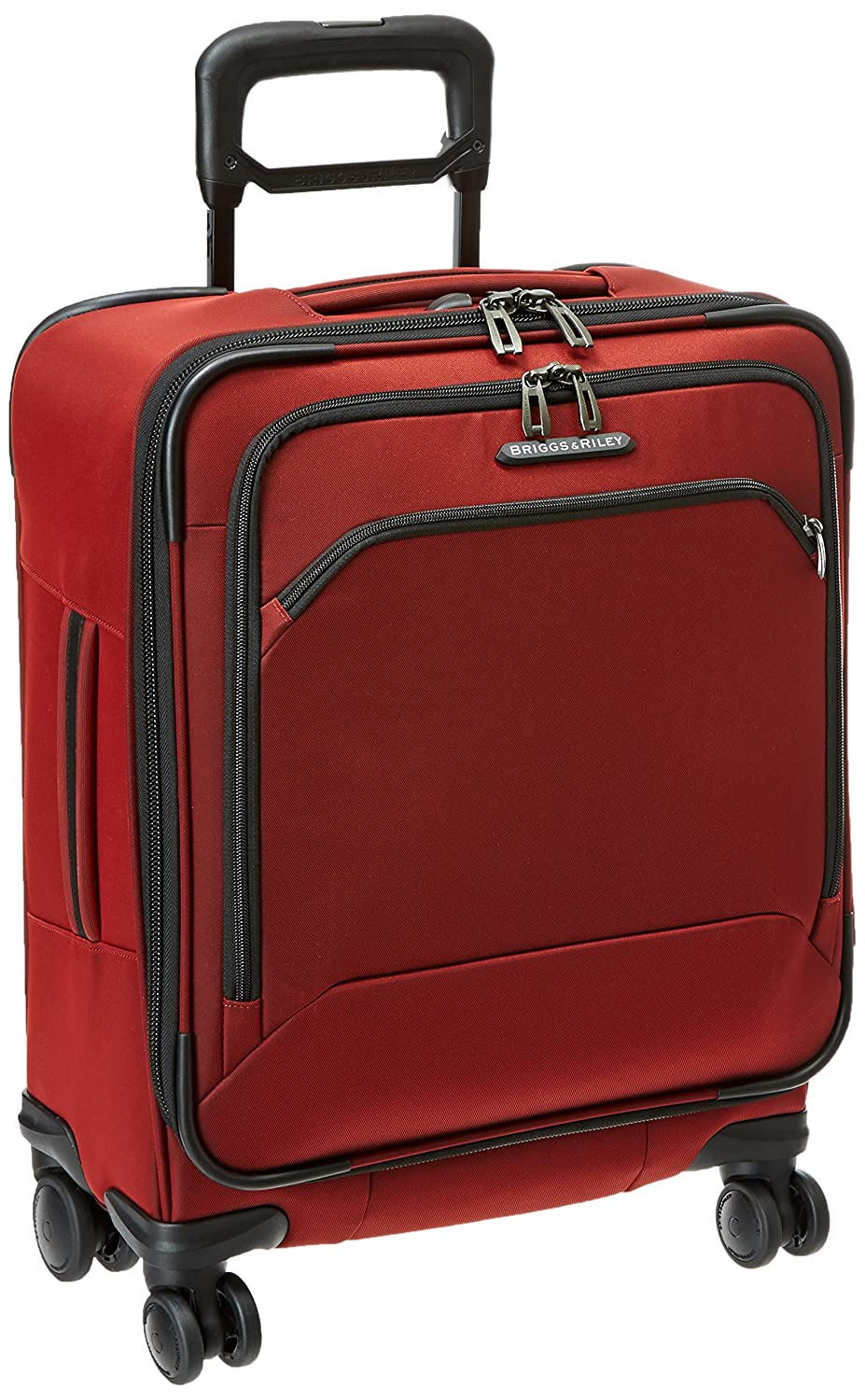 Briggs Riley International Carry-On Wide-Body Spinner, Crimson, One Size