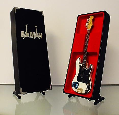 Miniatura Guitarra Replica: Steve Harris firma Precision Bass ...