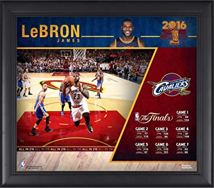 32fbd61c79d LeBron James Cleveland Cavaliers Framed 15 quot  x 17 quot  2016 NBA Finals  Champions Collage -