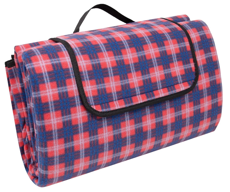 """ZOLLNER24 coperta da picnic impermeabile, a quadretti rossi-blu-bianchi, misura 200x200 cm, serie """"F003"""" serie F003"""