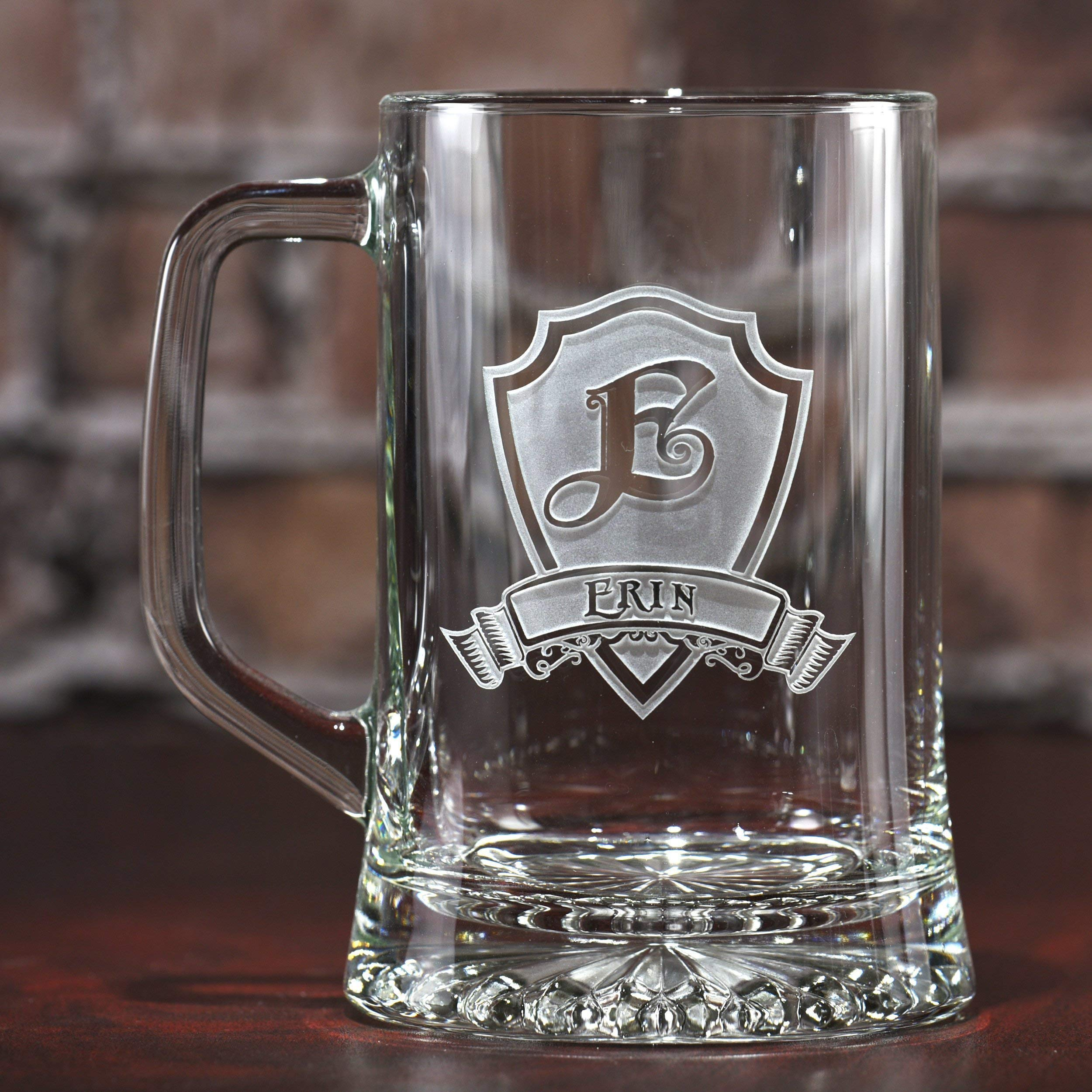 Personalized, monogrammed beer mugs (single)