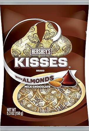 Besos de Hershey s Chocolate con leche con almendras 150 g
