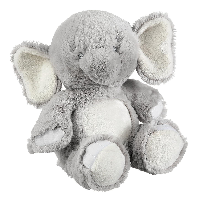 Amazon Com Cuddly Emerson Musical Elephant Soft Gray 7 X 9 Plush