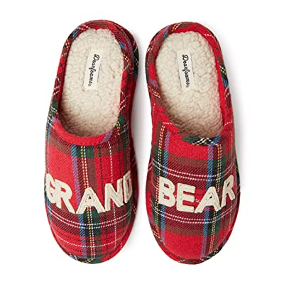 Dearfoams Family Collection Grand Bear Plaid Clog Slipper | Mules & Clogs
