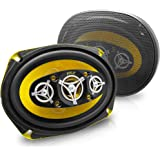 Car Eight Way Speaker System - Pro 6 x 9 Inch 500W 4 Ohm Mid Tweeter Component Audio Sound Speakers For Car Stereo w/ 120 Oz