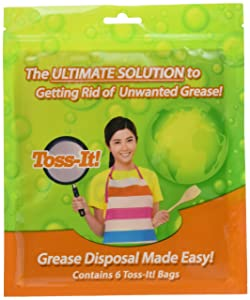 Toss-It! Bag - Fill and Toss Away Unwanted Kitchen Grease 6 pack