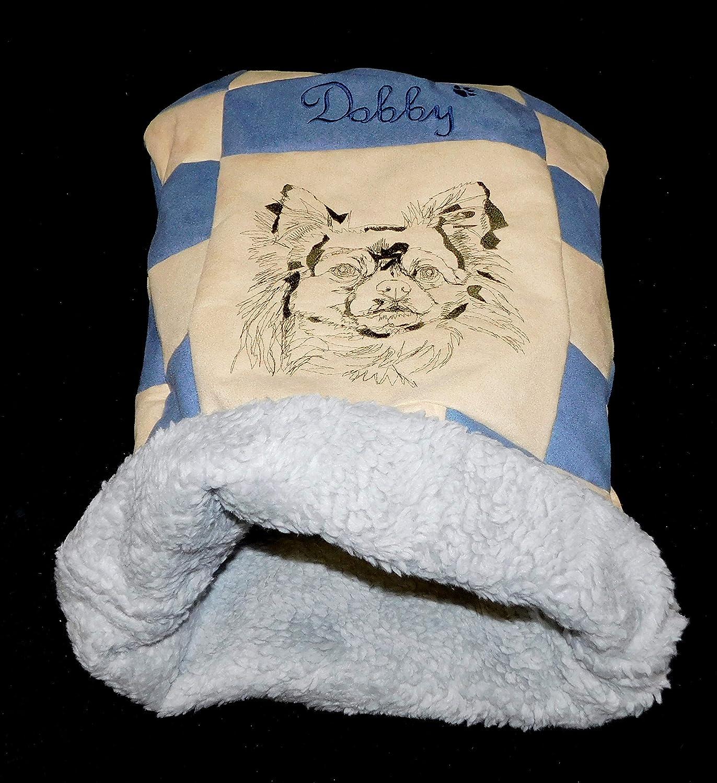 LunaChild Hunde Kuschelhöhle Chihuahua 2 Hundebett Name Snuggle Bag Größe S M L oder XL in vielen Farben erhältlich