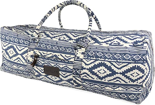 Kindfolk Yoga Mat Duffle Bag Extra Large XL Patterned Canva