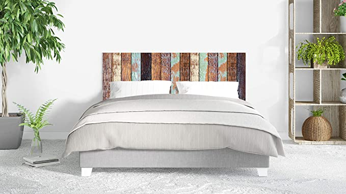 Cabecero Cama PVC Impresión Digital sin Relieve Imitación Colores Antiguos Madera 150 x 60 cm | Disponible en Varias Medidas | Cabecero Ligero, Elegante, Resistente y Económico: Amazon.es: Hogar