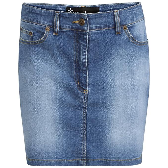 TTC Denim Stretch Mini Skirt Stone wash Mini Skirt 8 10 12 14 16 18 (12)