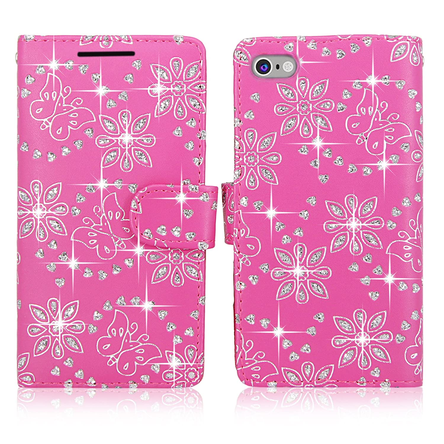 Cellularvilla Leather Pockets Detachable Glitter Image 1