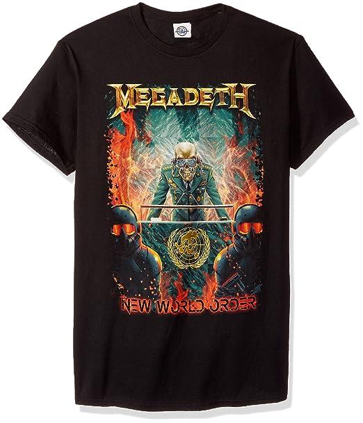 Megadeth New World Order Camiseta Negro bwWLsjxR