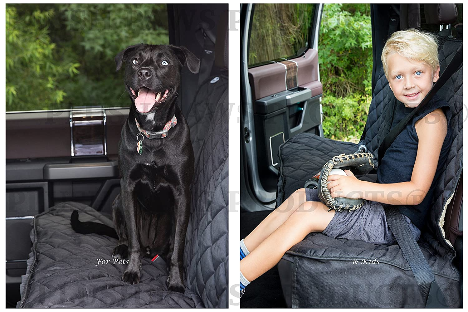 Plush Paws Custom Dog Seat Cover Center Console Access